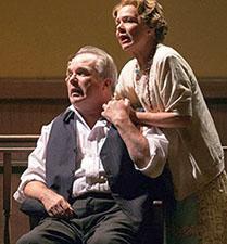 Alan Knoll as Brady & Susie Wall as Mrs. Brady. Photo: John Lamb